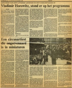 Horowitz Volkskrant